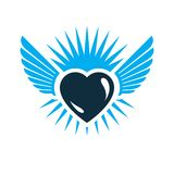Heart vector graphic illustration, love and freedom metaphor sym Royalty Free Stock Image