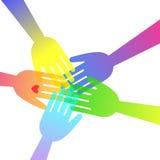 Heart vector hand icon love symbol help shape sign Royalty Free Stock Photo