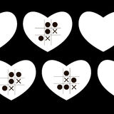 Heart vector hearts re stripes crosses Stock Images