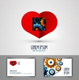Heart vector logo design template. love or health Royalty Free Stock Image