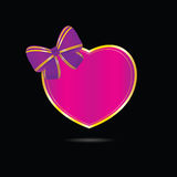 Heart vector love in pink Royalty Free Stock Photo