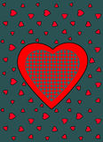 Heart Vector Pattern. Vector seamless pattern with big red heart Royalty Free Stock Photo