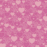 Heart Vector Pattern. Vector seamless pattern with pink hearts Stock Photography