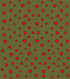 Heart Vector Pattern. Vector seamless pattern with pink hearts Royalty Free Stock Photography