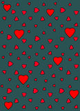 Heart Vector Pattern. Vector seamless pattern with red hearts Royalty Free Stock Images