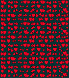 Heart Vector Pattern. Vector seamless pattern with red hearts Stock Images