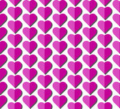 Heart vector seamless pattern on white background, illustration graphic for Valentine`s Day, mothers day, wedding invitation card. Stock Photo