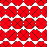 Heart vector seamless pattern on white background, illustration graphic for Valentine`s Day, mothers day, wedding invitation card. Royalty Free Stock Photo