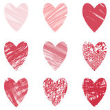 Heart vector set Stock Photography