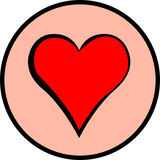 Heart vector symbol. Vector symbol of a red heart Stock Images