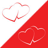 Heart vector valentine love background design Royalty Free Stock Images