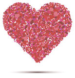 Heart vector on a white background Stock Images