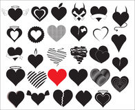 Heart Vectors Royalty Free Stock Photo