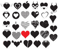 Heart Vectors Royalty Free Stock Photos