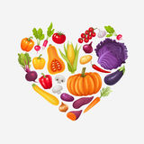 Heart of vegetables. Stock Photo