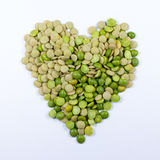 Heart of vegetables, made with lentils and split peas Stock Image