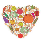 Heart of vegetables symbol Stock Images