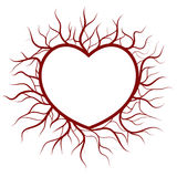 Heart in veins nimbus Stock Photography