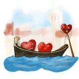 Heart of the Venetian gondola Stock Image