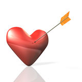 Heart is on the verge. Royalty Free Stock Photos