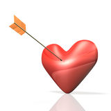 Heart is on the verge. Royalty Free Stock Images