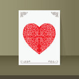Heart vintage card design Royalty Free Stock Photography