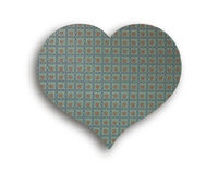 Heart of vintage cloth Stock Image