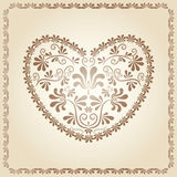 Heart. Vintage design element. Stock Image