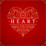 Heart vintage luxury logo template Royalty Free Stock Photo