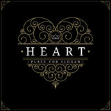 Heart vintage luxury logo template Royalty Free Stock Photography