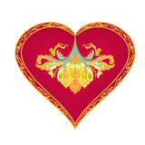 Heart from vintage ornaments vector Stock Photo