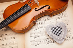 Heart and violin! Stock Photo