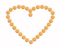 Heart in vitamins Royalty Free Stock Images