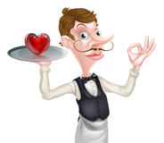 Heart Waiter Perfect Sign Royalty Free Stock Photography