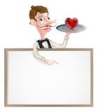 Heart Waiter Sign Stock Image