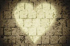 Heart on the wall Royalty Free Stock Images