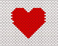 Heart on Wall Royalty Free Stock Images