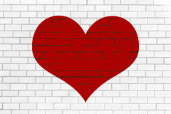 Heart on wall Stock Images