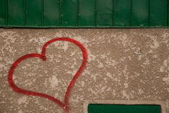 Heart on wall Royalty Free Stock Image