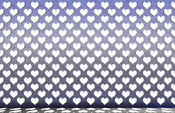 Hearts on the wall. Royalty Free Stock Images