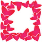 Heart of wallpaper. Of frame Royalty Free Stock Images