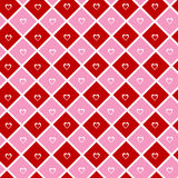 Heart Wallpaper. Red and pink love wallpaper vector illustration