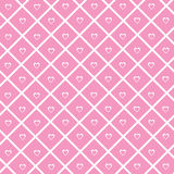 Heart Wallpaper. Pink love wallpaper with hearts stock illustration