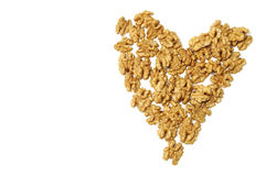 Heart of walnuts Stock Image