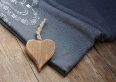 Heart on a warm cover Royalty Free Stock Photos