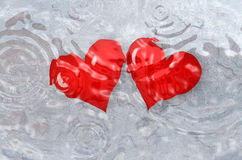 Heart in water Royalty Free Stock Images