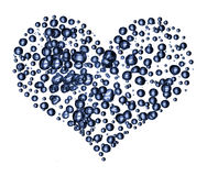 Heart of the water bubble Royalty Free Stock Image