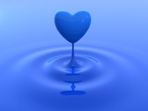 Heart water drop Royalty Free Stock Photography