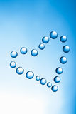 Heart of water drops Royalty Free Stock Image