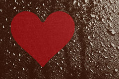 Heart and water drops Royalty Free Stock Images